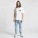 Мужская футболка Tommy Jeans Crest Flag Cloud Dancer фото- 2