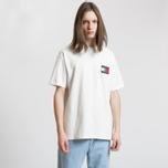 Мужская футболка Tommy Jeans Crest Flag Cloud Dancer фото- 3