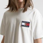 Мужская футболка Tommy Jeans Crest Flag Cloud Dancer фото- 4