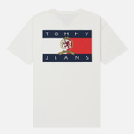 Мужская футболка Tommy Jeans Crest Flag Cloud Dancer фото- 1