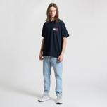 Мужская футболка Tommy Jeans Crest Flag Dark Sapphire фото- 2