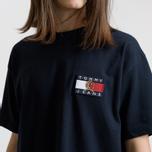 Мужская футболка Tommy Jeans Crest Flag Dark Sapphire фото- 4