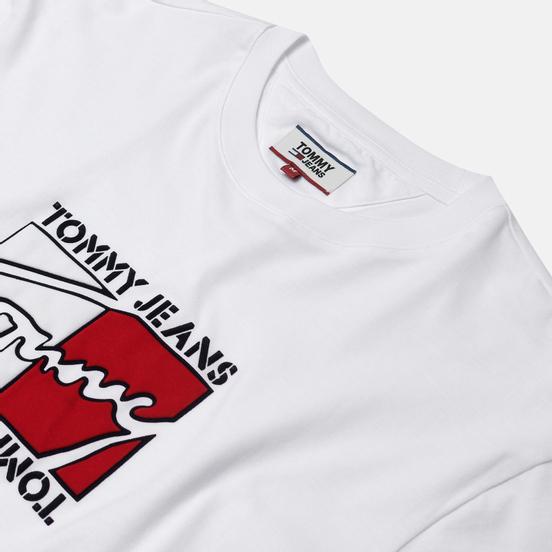 Мужская футболка Tommy Jeans Flag Script Classic White