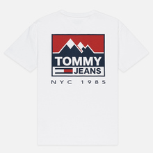 Мужская футболка Tommy Jeans Mountain Logo Back Graphic Classic White фото- 4