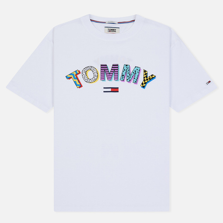Мужская футболка Tommy Jeans Retro Geo Classic White Capitals