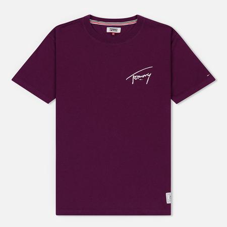 Мужская футболка Tommy Jeans Signature Dark Purple
