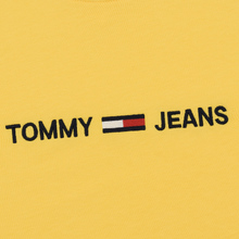 Мужская футболка Tommy Jeans Small Logo Aspen Gold фото- 2
