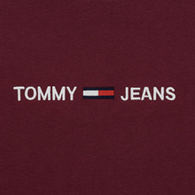 Мужская футболка Tommy Jeans Small Logo Burgundy фото- 2