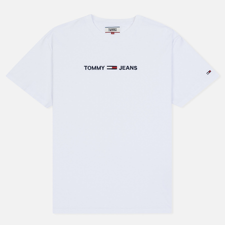 Мужская футболка Tommy Jeans Small Logo Classic White
