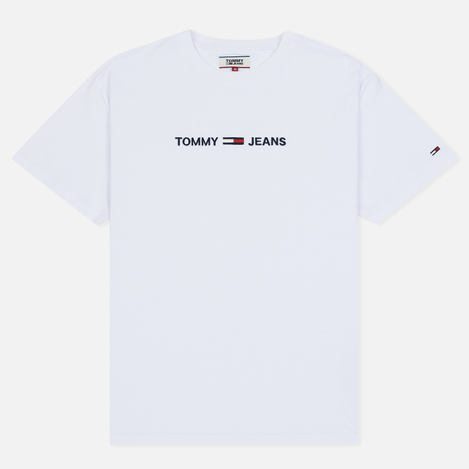 Мужская футболка Tommy Jeans Small Logo Classic White