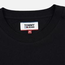 Мужская футболка Tommy Jeans Straight Small Logo Regular Fit Black фото- 1