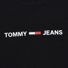 Мужская футболка Tommy Jeans Straight Small Logo Regular Fit Black фото- 2