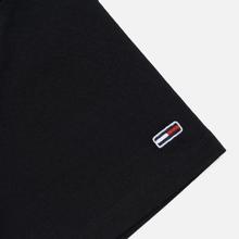 Мужская футболка Tommy Jeans Straight Small Logo Regular Fit Black фото- 3