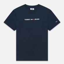 Мужская футболка Tommy Jeans Straight Small Logo Regular Fit Black Iris фото- 0
