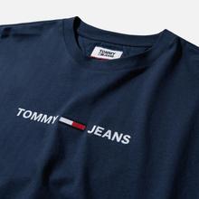 Мужская футболка Tommy Jeans Straight Small Logo Regular Fit Black Iris фото- 1