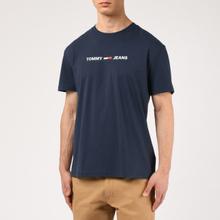 Мужская футболка Tommy Jeans Straight Small Logo Regular Fit Black Iris фото- 2