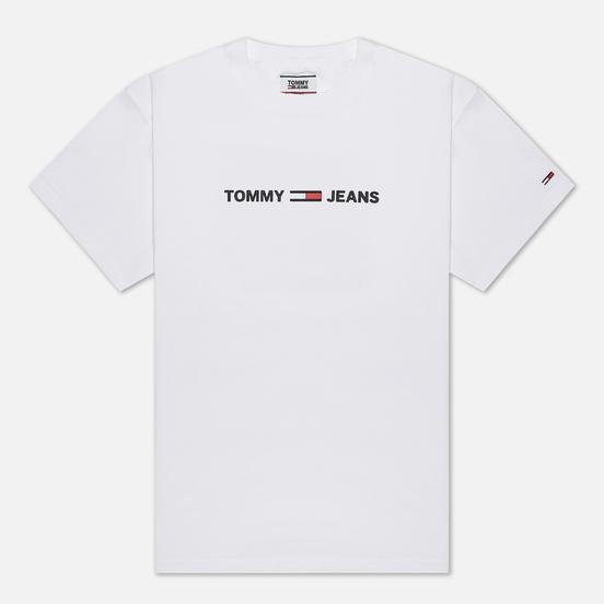 Мужская футболка Tommy Jeans Straight Small Logo Regular Fit Classic White