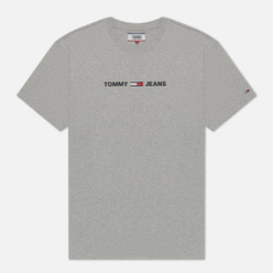 Мужская футболка Tommy Jeans Straight Small Logo Regular Fit Light Grey Heather