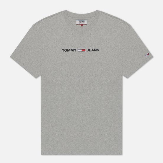 Мужская футболка Tommy Jeans Straight Small Logo Regular Fit Light Grey Heather