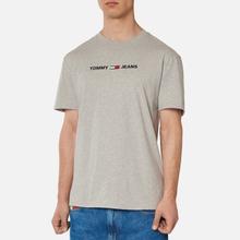 Мужская футболка Tommy Jeans Straight Small Logo Regular Fit Light Grey Heather фото- 3