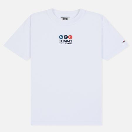 Мужская футболка Tommy Jeans Subway Logo Classic White