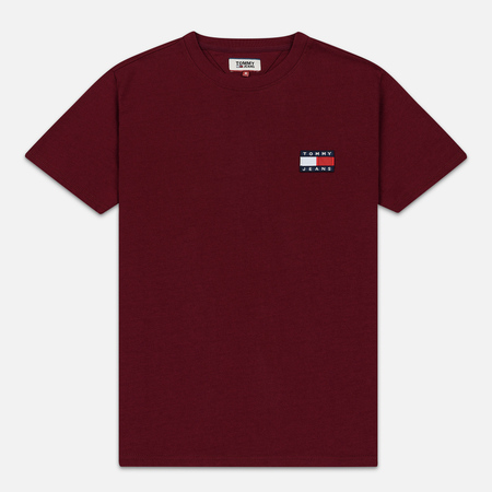 Мужская футболка Tommy Jeans Tommy Badge Burgundy