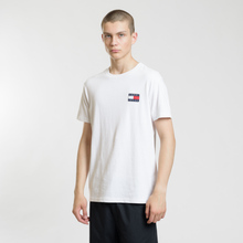 Мужская футболка Tommy Jeans Tommy Badge Classic White фото- 1