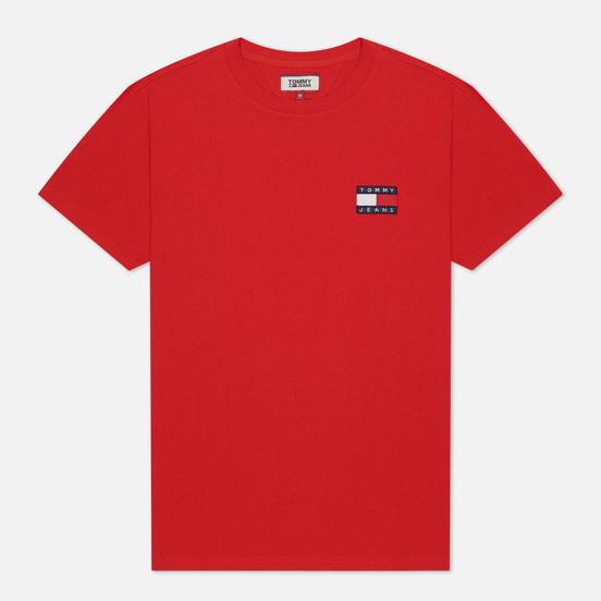 Мужская футболка Tommy Jeans Tommy Badge Deep Crimson