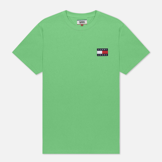 Мужская футболка Tommy Jeans Tommy Badge Neon Green Gecko