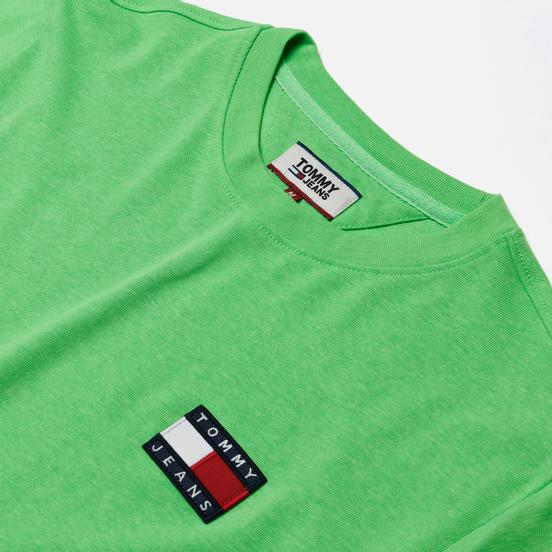 Мужская футболка Tommy Jeans Tommy Badge Neon Green Gecko