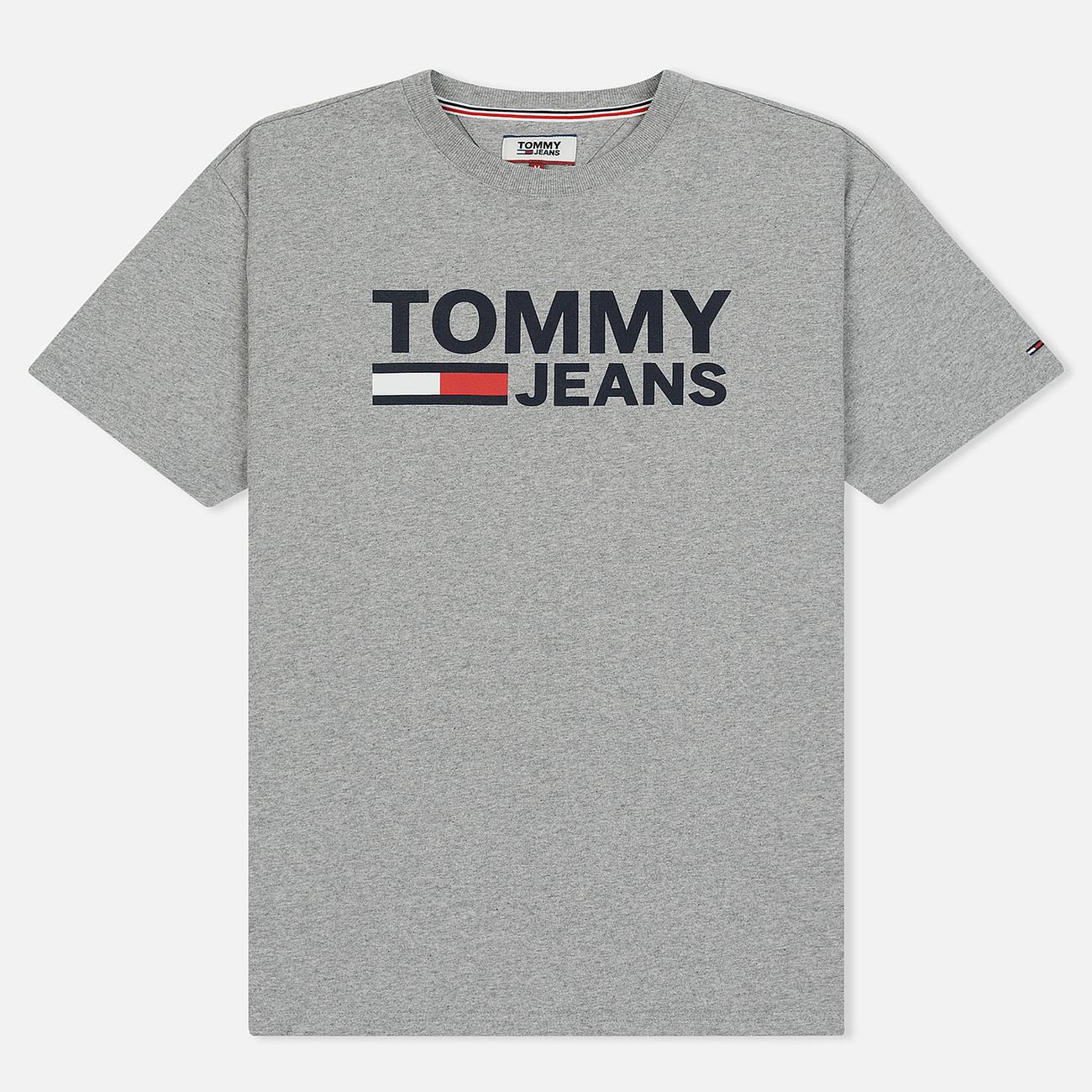 Мужская футболка Tommy Jeans Tommy Classics Logo Light Grey Heather