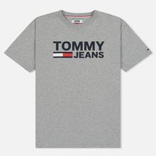Мужская футболка Tommy Jeans Tommy Classics Logo Light Grey Heather фото- 0