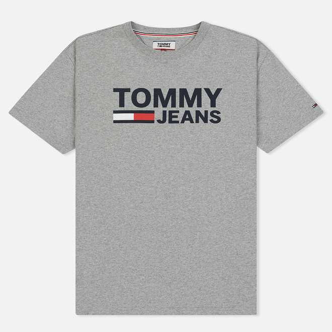 Мужская футболка Tommy Jeans Tommy Classics Logo Light Grey Heather