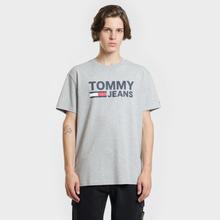 Мужская футболка Tommy Jeans Tommy Classics Logo Light Grey Heather фото- 1