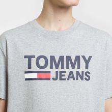 Мужская футболка Tommy Jeans Tommy Classics Logo Light Grey Heather фото- 2