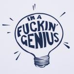 Мужская футболка TSPTR Fuckin Genius White/Navy фото- 2