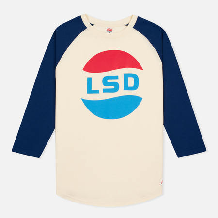 TSPTR LSD Print 3/4 Raglan Sleeve Royal White