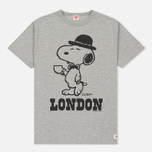 Мужская футболка TSPTR x Peanuts Vintage London City Pack Grey Marl фото- 0