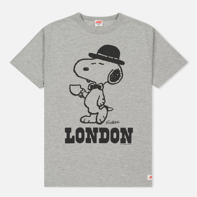Мужская футболка TSPTR x Peanuts Vintage London City Pack Grey Marl