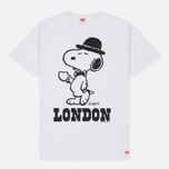 Мужская футболка TSPTR x Peanuts Vintage London City Pack White фото- 0