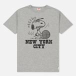 Мужская футболка TSPTR x Peanuts Vintage New York City Pack Grey Marl фото- 0