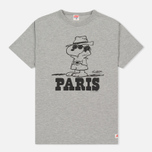 Мужская футболка TSPTR x Peanuts Vintage Paris City Pack Grey Marl фото- 0