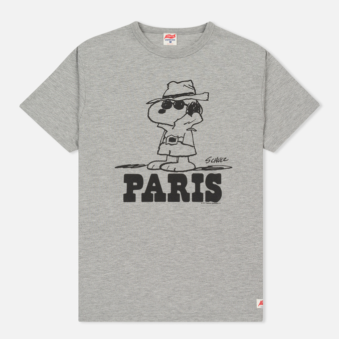 Мужская футболка TSPTR x Peanuts Vintage Paris City Pack Grey Marl