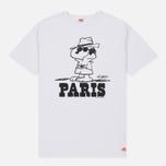 Мужская футболка TSPTR x Peanuts Vintage Paris City Pack White фото- 0