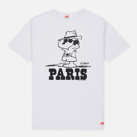 Мужская футболка TSPTR x Peanuts Vintage Paris City Pack White