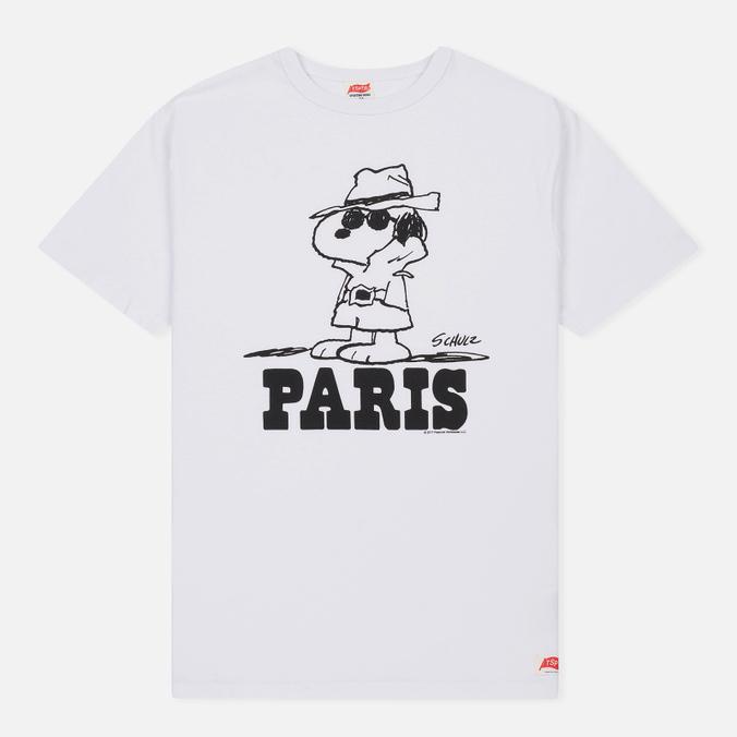 Мужская футболка TSPTR x Peanuts Vintage Paris City Pack White