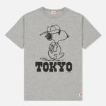 Мужская футболка TSPTR x Peanuts Vintage Tokyo City Pack Grey Marl фото- 0