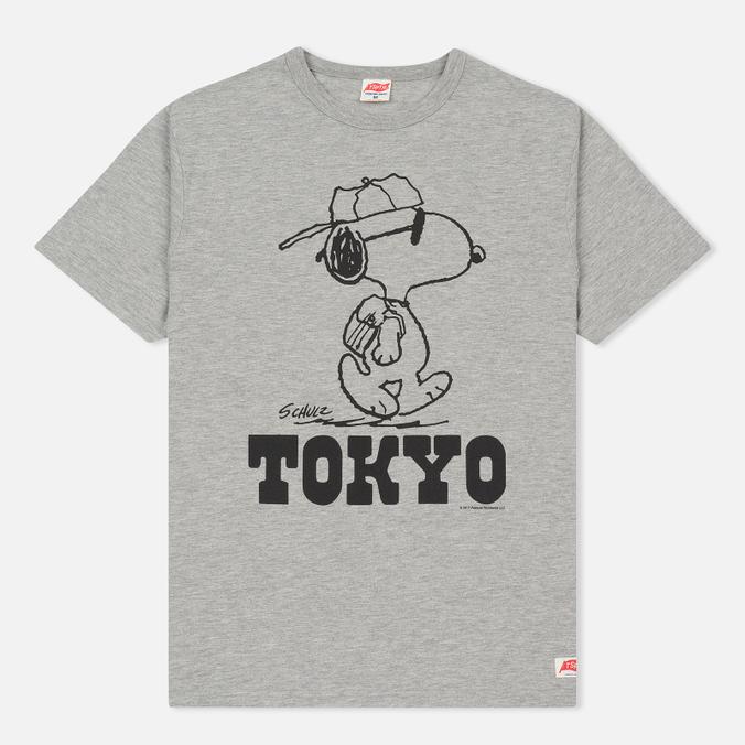 Мужская футболка TSPTR x Peanuts Vintage Tokyo City Pack Grey Marl