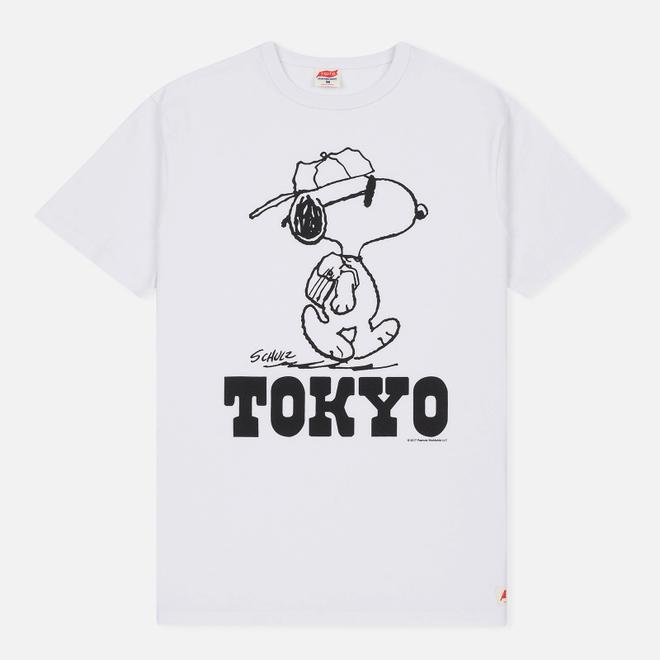 Мужская футболка TSPTR x Peanuts Vintage Tokyo City Pack White