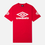 Umbro Pro Training Classic Coach Crew Men's T-shirt Red photo- 0